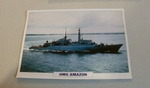 1971 HMS Amazon Frigate warship framed picture